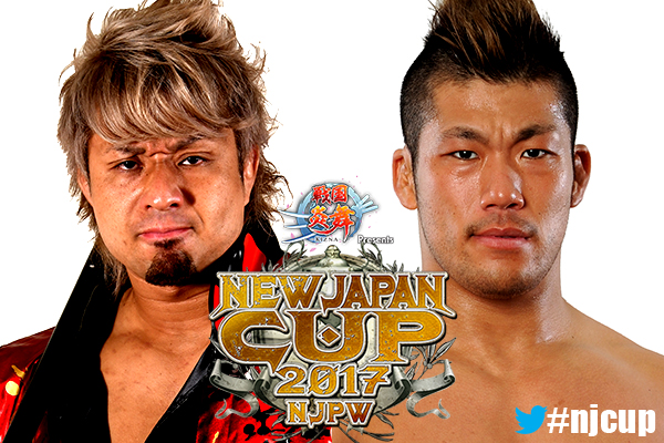 The CHAOS and L.I.J. war rages on in the New Japan Cup with YOSHI-HASHI vs. SANADA!