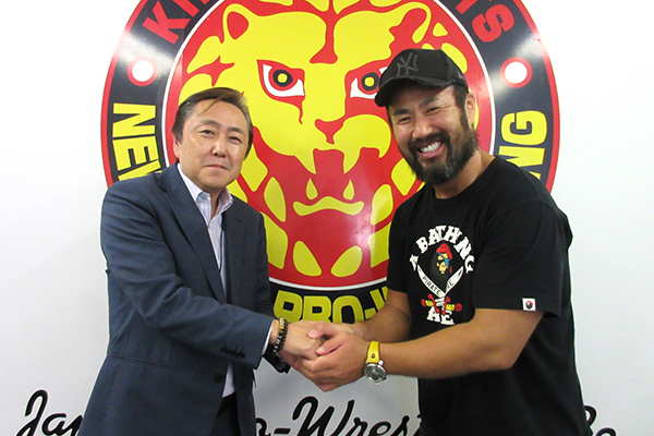 Honma pays a visit to the NJPW offices and gives a message to the fans!