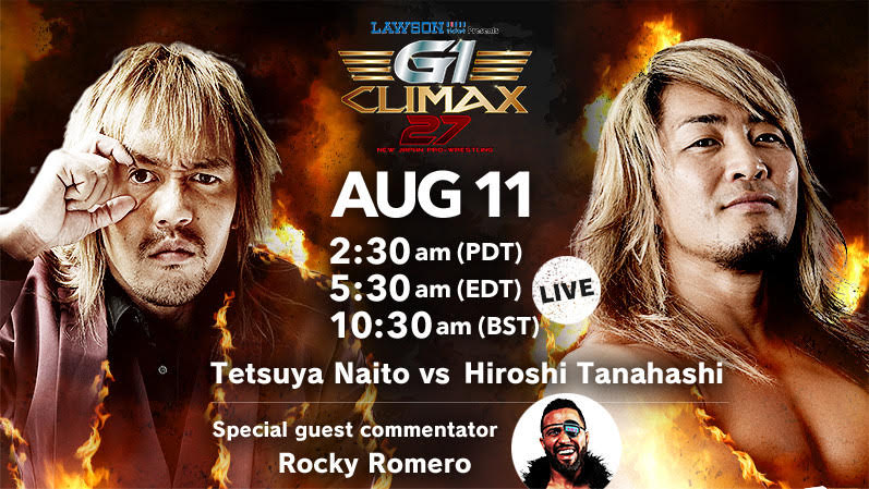 G1 Climax 27: The return to Ryogoku Sumo Hall! A Block matches conclude on 8/11, with Tanahashi v. Naito, Ishii v. ZSJ & more!