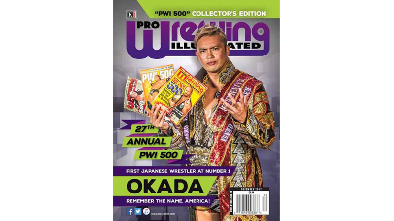 Kazuchika Okada voted #1 in the PWI 500, the 1st Japanese wrestler ever to do so! Congratulations Champ!