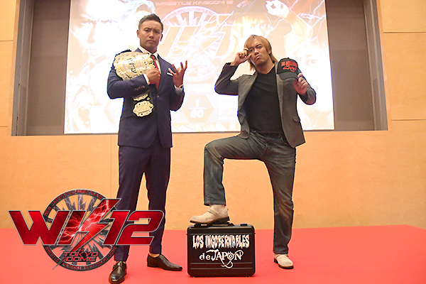 It's official! Kazuchika Okada vs Tetsuya Naito set for Wrestle Kingdom 12! On October 10, TV Asahi hosted a press conference to make the first match for Wrestle Kingdom 12 official[WK12]