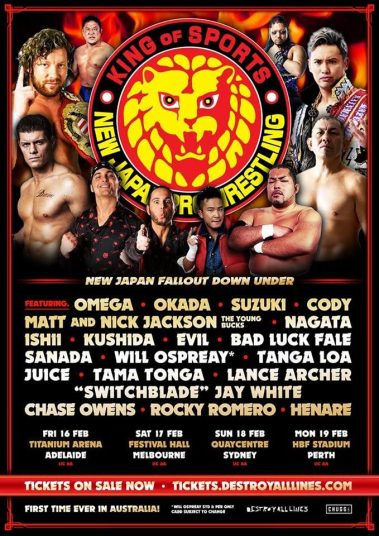 NJPW to rock Australia! Tickets on Sale Now for four All Star evenings!