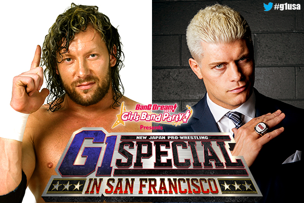 4 matches announced for G1 Special in San Francisco!  Omega vs Cody, Young Bucks vs EVIL & SANADA, Okada & Ospreay vs Naito & BUSHI, Jay vs Juice‼︎