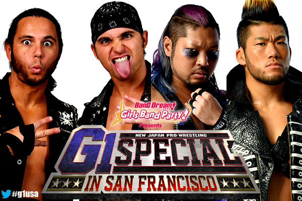 4 matches announced for G1 Special in San Francisco! Omega
