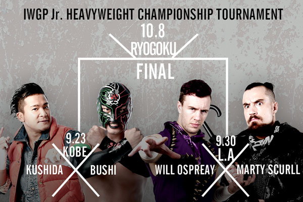 The Junior IWGP throne is vacant. KUSHIDA, BUSHI, Ospreay, and Scurll have all entered the Junior Heavyweight championship tournament!