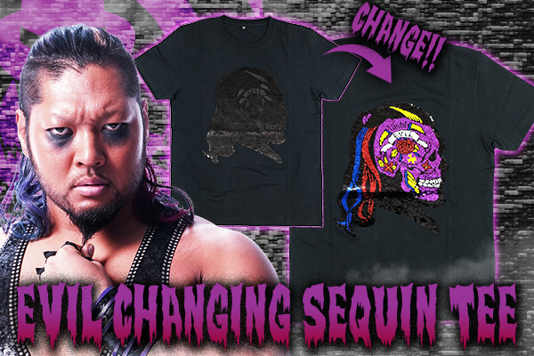 """On sale today! EVIL & SANADA """"changing sequin"""" T-shirts!【G129】"""