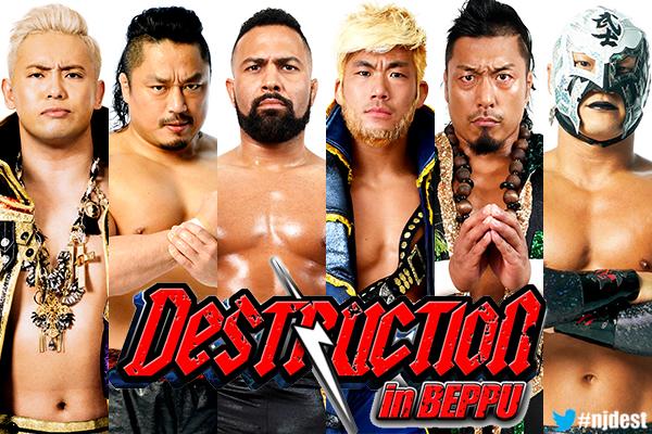 6th Match: CHAOS (Kazuchika Okada, Hirooki Goto and Rocky Romero) vs L.I.J (SANADA, Shingo Takagi and BUSHI)