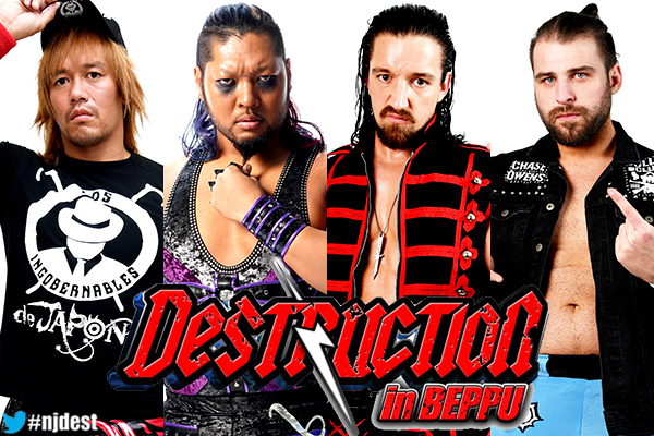 7th Match: L.I.J (Tetsuya Naito and EVIL) vs Bullet Club (Jay White and Chase Owens)