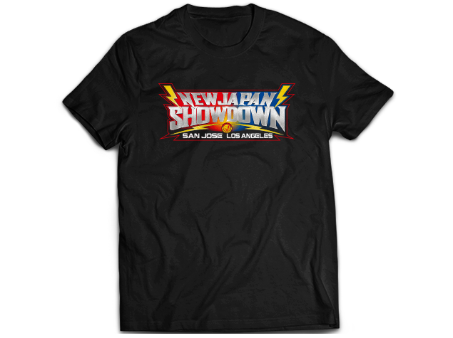 Merch line-up for New Japan showdown revealed!