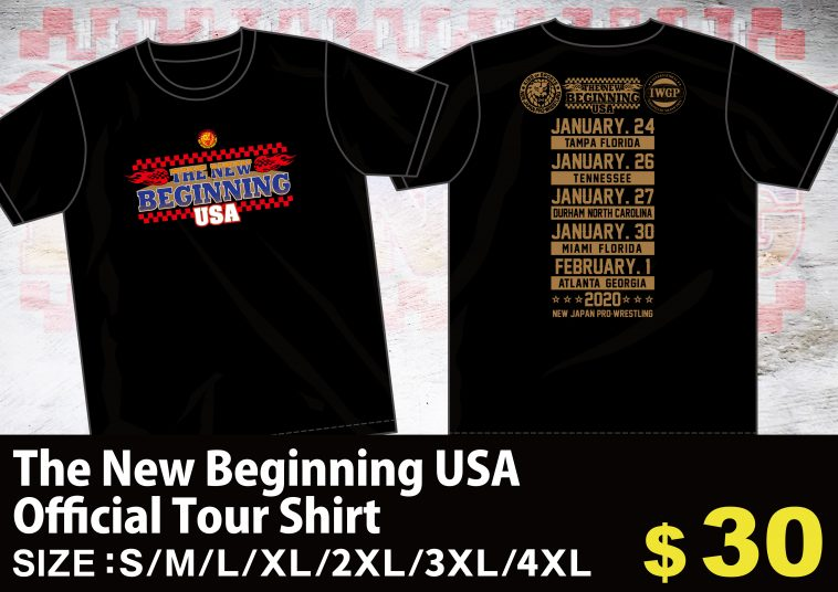 Merch line-up for The New Beginning USA revealed! 【NJoA】